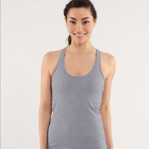 Lululemon Cool Racerback Black Gingham